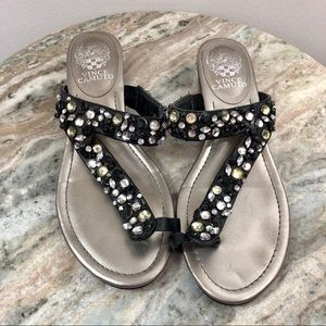 Vince Camuto thong sandals size 8 beaded